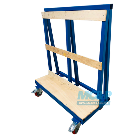 Photo of single sided glass a frame trolley