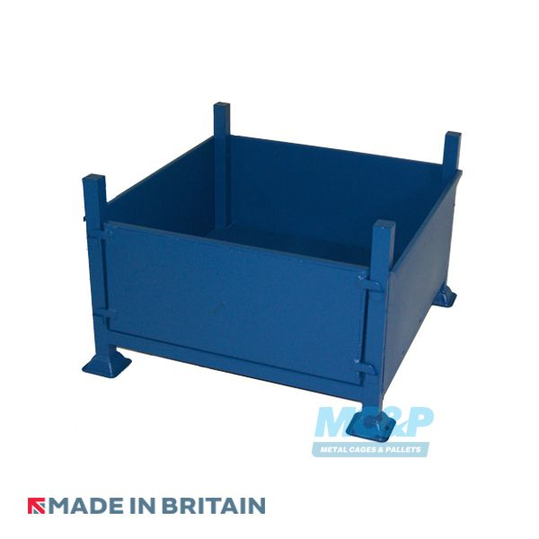 Stackable Storage Stillage With Solid Sides and Removable Front
