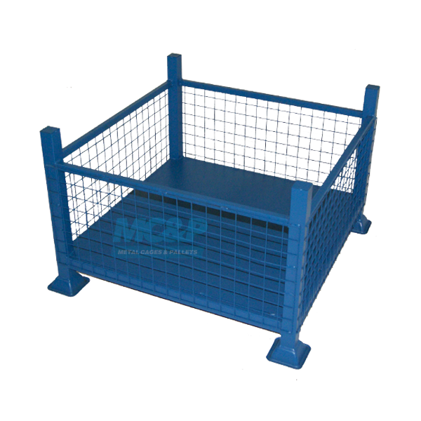 Mesh Sided Stillage with Solid Base