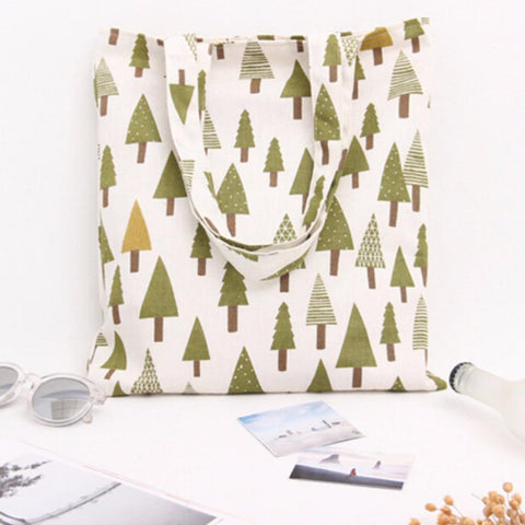 Canvas Trees Tote Bag - The Trendy Twist