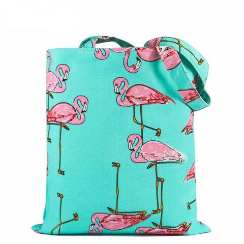Trendy Flamingo Canvas Tote Bag - The Trendy Twist