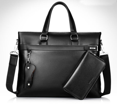 Vintage Men Leather Laptop Shoulder Bag - The Trendy Twist