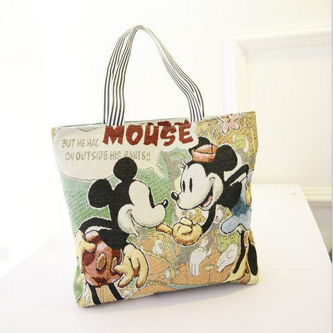 Stylish Mickey Cartoon Canvas Handbags - The Trendy Twist