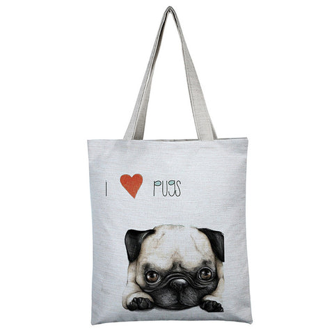 Cute dogs printed shoulder bag - The Trendy Twist