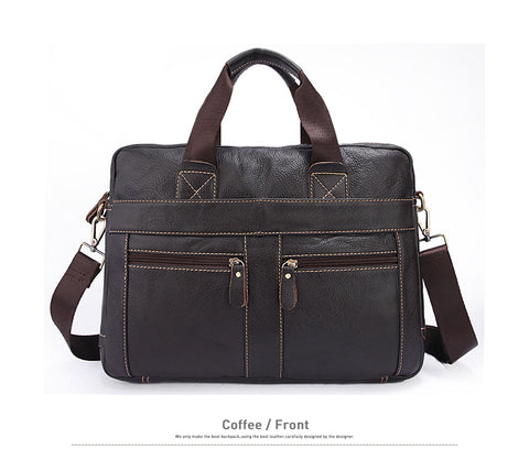 Trendy Genuine Leather Crossbody Laptop Bag - The Trendy Twist