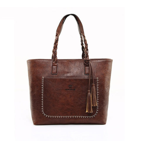 Classic Women Tote Leather Bag suitable for iPad, notebooks, mini-laptops and A4 magazines - The Trendy Twist