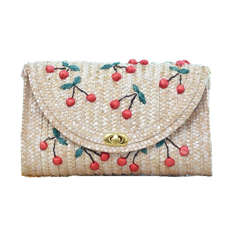 Knitted Stylish Cherry Shoulder Bag - The Trendy Twist