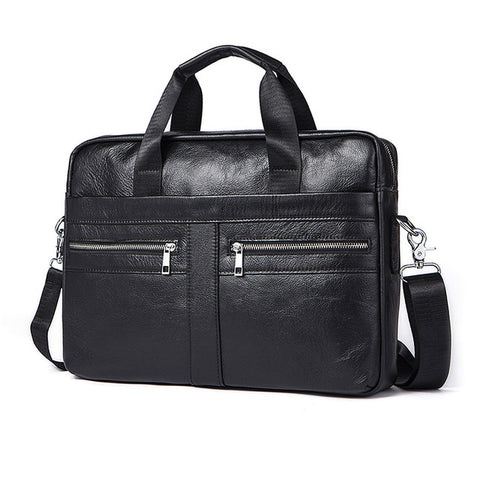 Genuine Leather Men Messenger Bag - The Trendy Twist