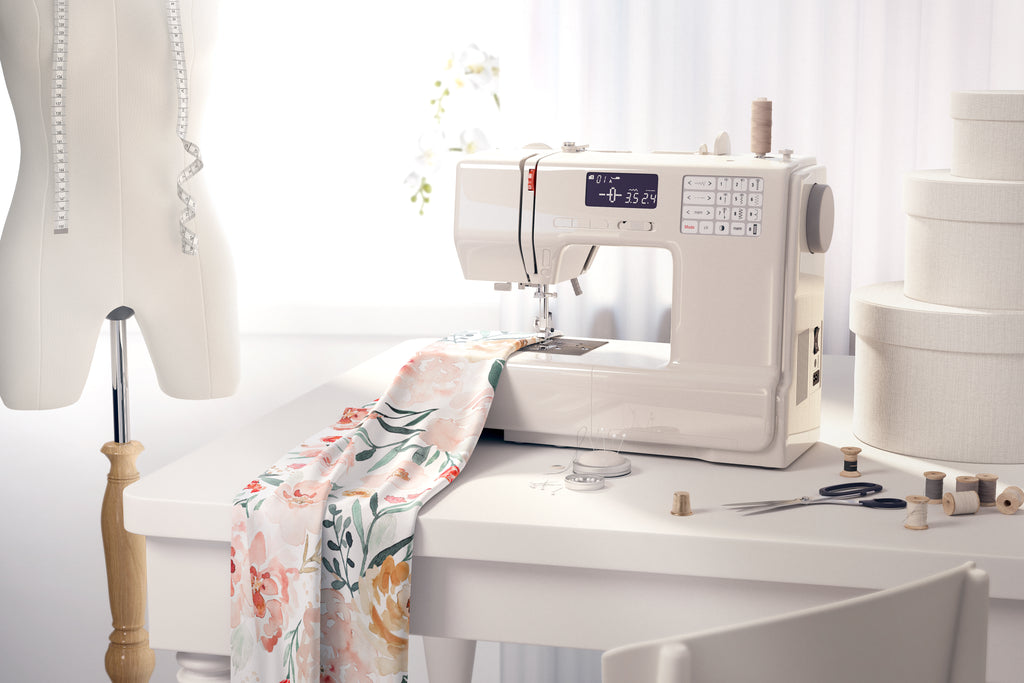Online Fabric Store - Sewing Machine In Action