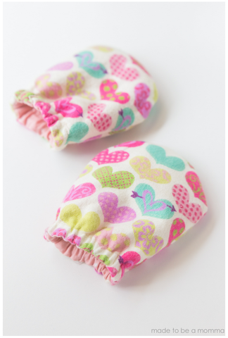 Baby Mittens Sewing Pattern