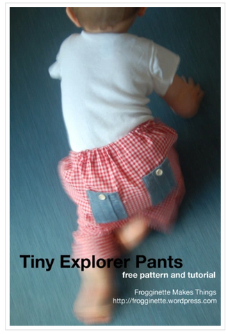 Tiny Explorer Pants Sewing Pattern