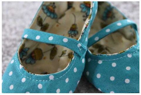 Fabric Baby Shoes Sewing Pattern