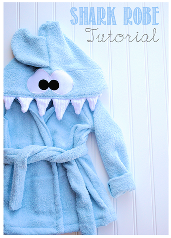 Baby Shark Robe Sewing Pattern