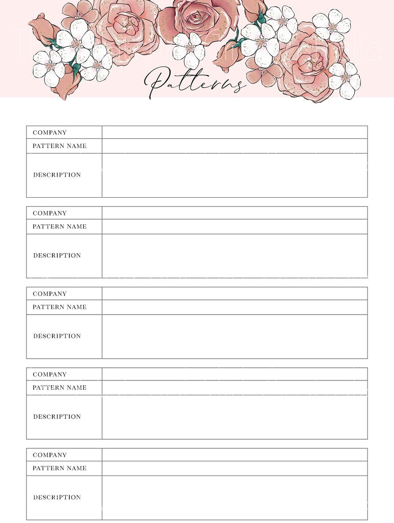 Missy Rose Sewing Planner