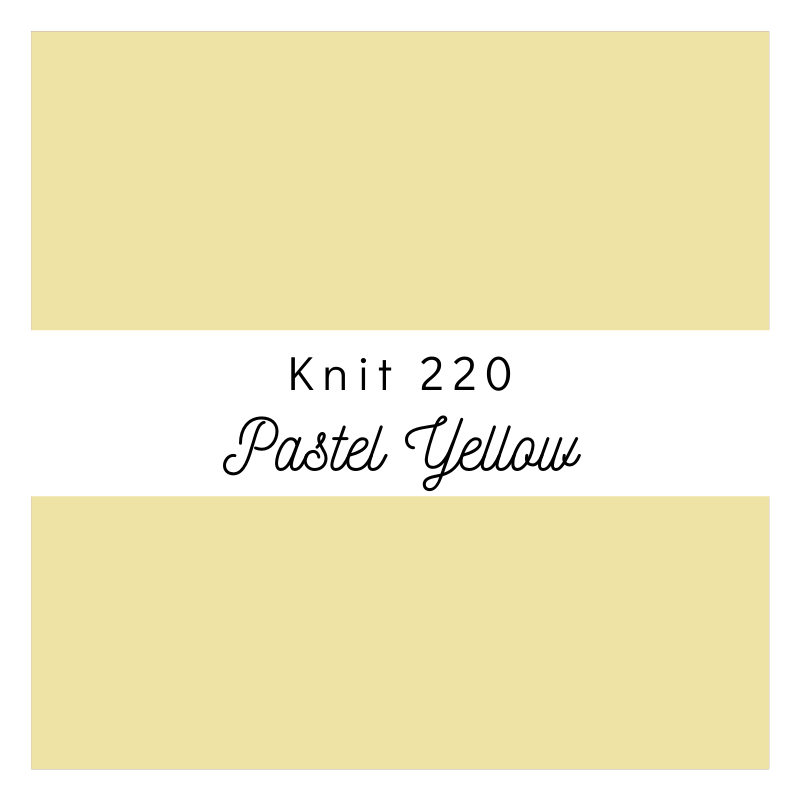 Pastel Yellow - Premium Knit 220