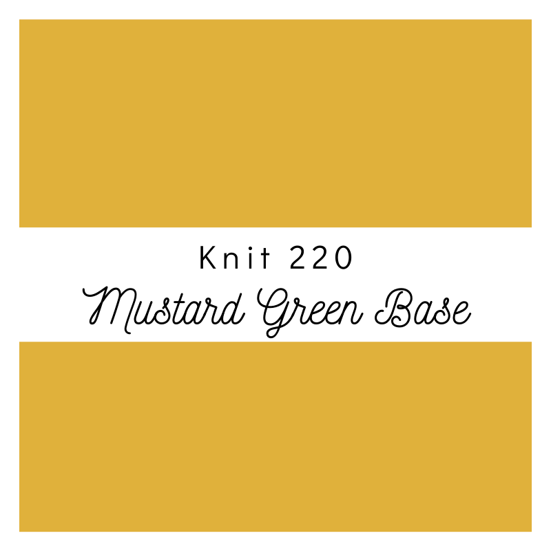 Mustard Green Base - Premium Knit 220