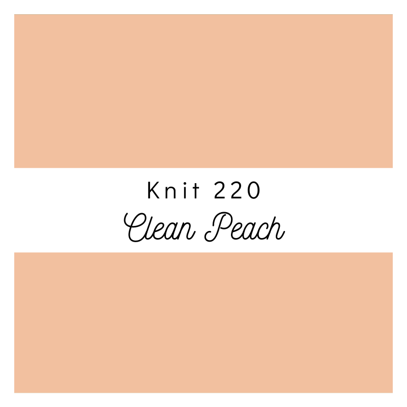 Clean Peach - Premium Knit 220