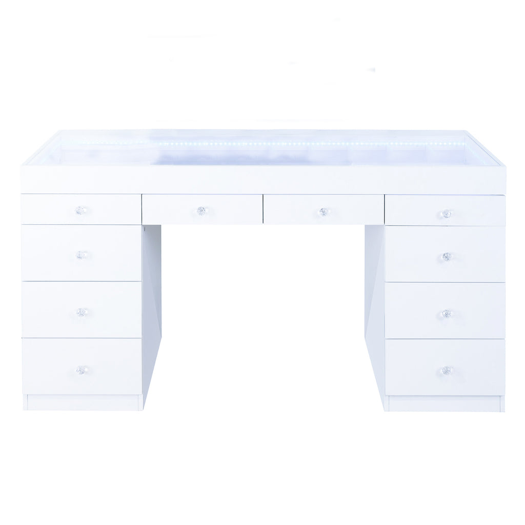 FIAT LUX LIGHTED 10-DRAWER VANITY TABLE