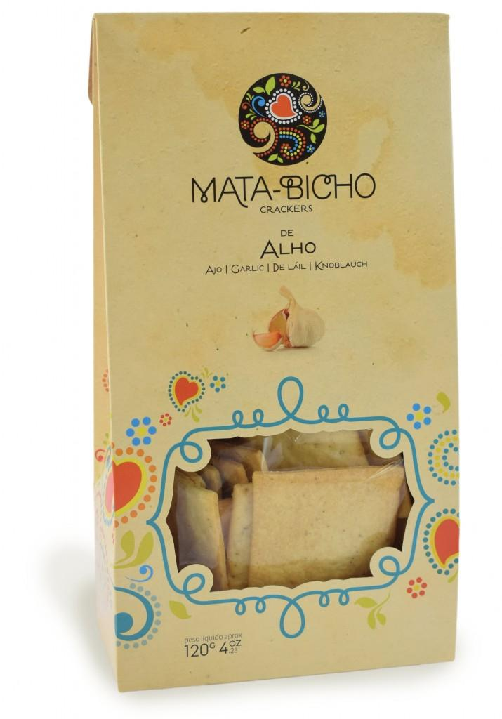 Crackers Mata Bicho Alho cx 120g