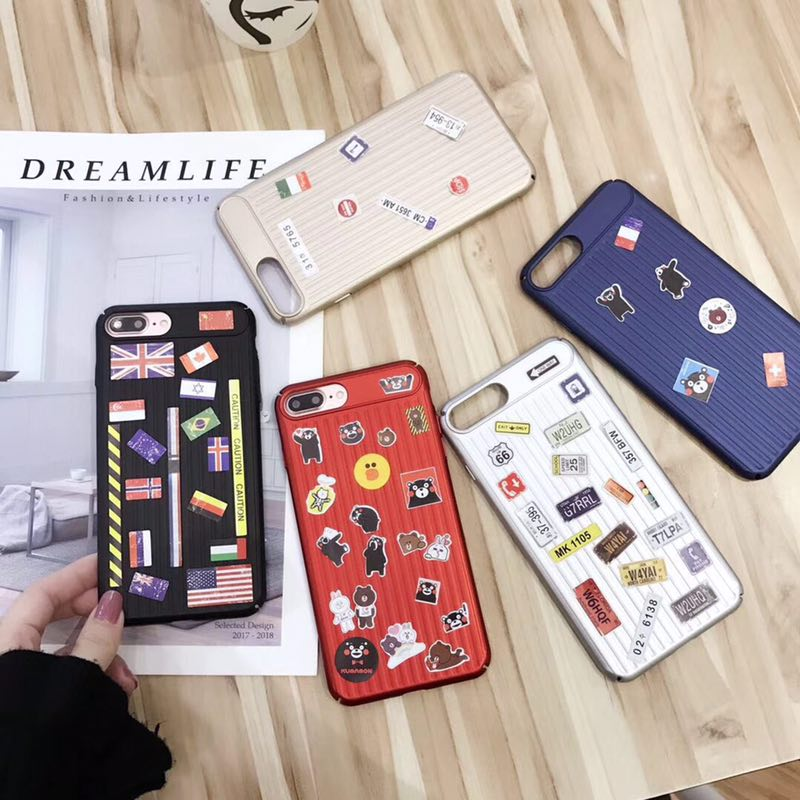 new concept cf5fc 4516f LUGGAGE CASE WITH STICKERS FOR IPHONE X 8 8P 7 7P 2