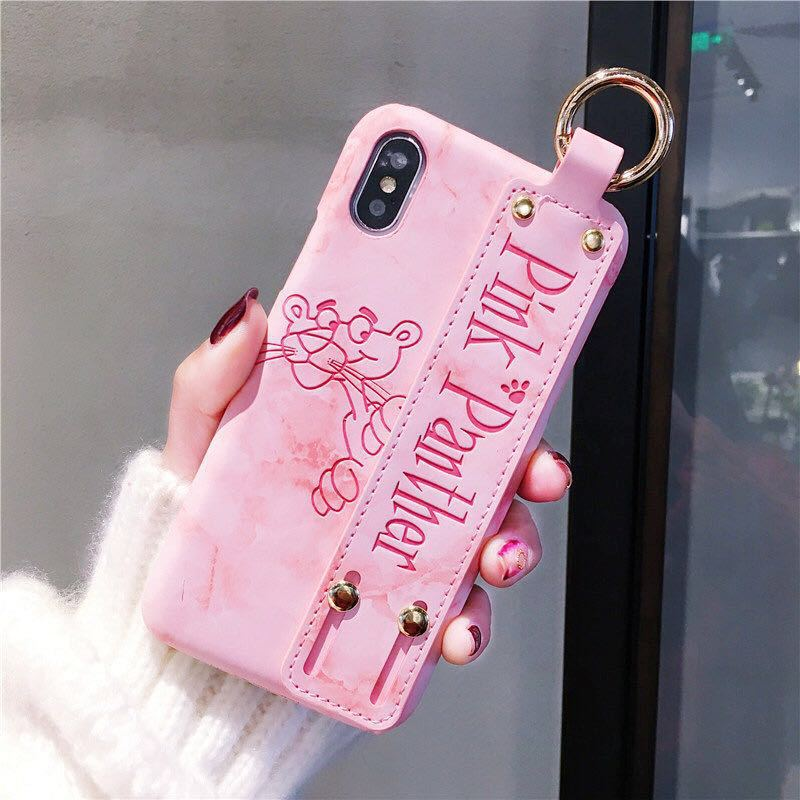 more photos a1b60 11fd4 New Girl Cartoon Leopard Leather Hard Case For iPhone X 7 7p 8 8p