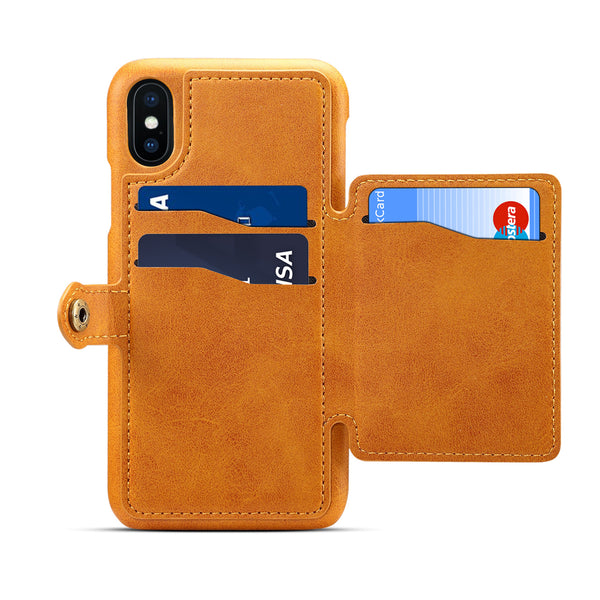 59a9493ae2a8 Suede Leather Card holder kickstand car magnetic wireless compatible iphone  XS max case XS XS MAX ...