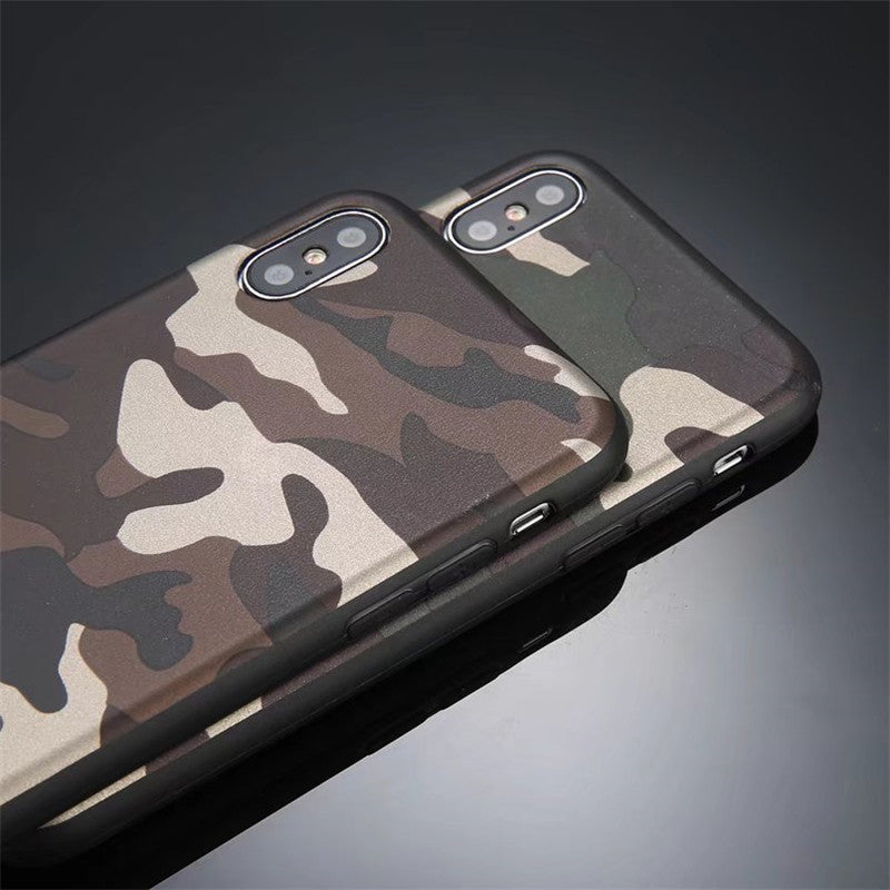 cheap for discount c71be 1a748 Army Camouflage Camo Men Cover For iPhone Xs Xs Max XR X 8 8p 7 7p