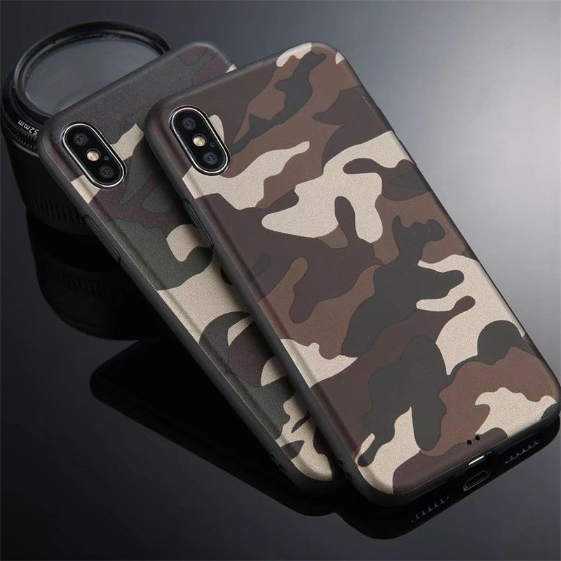 cheap for discount e1cab f0776 Army Camouflage Camo Men Cover For iPhone Xs Xs Max XR X 8 8p 7 7p