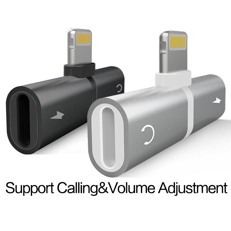 huge selection of 4b0dd 5ad66 Charging/Audio 2 in 1 Adapter For iPhone X 8 7 6 and plus