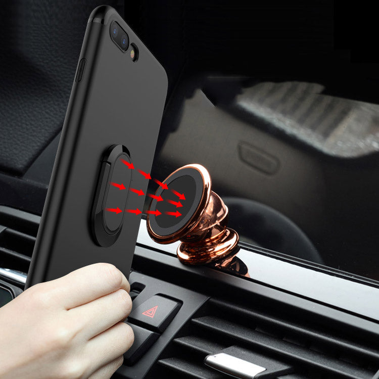 90df8e55c6192f ... Load image into Gallery viewer, Fing ring kick stand Car holder case  for iPhone Xs ...