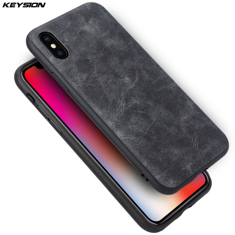 check out 102c3 3aede Luxury Vintage PU Leather Case for iPhone X