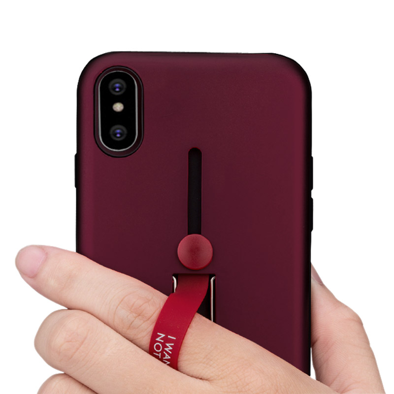 cheaper be612 ba0e4 Finger Ring Stand Silicone Case For iPhone Xs Xs Max XR X 8 8p 7 7p