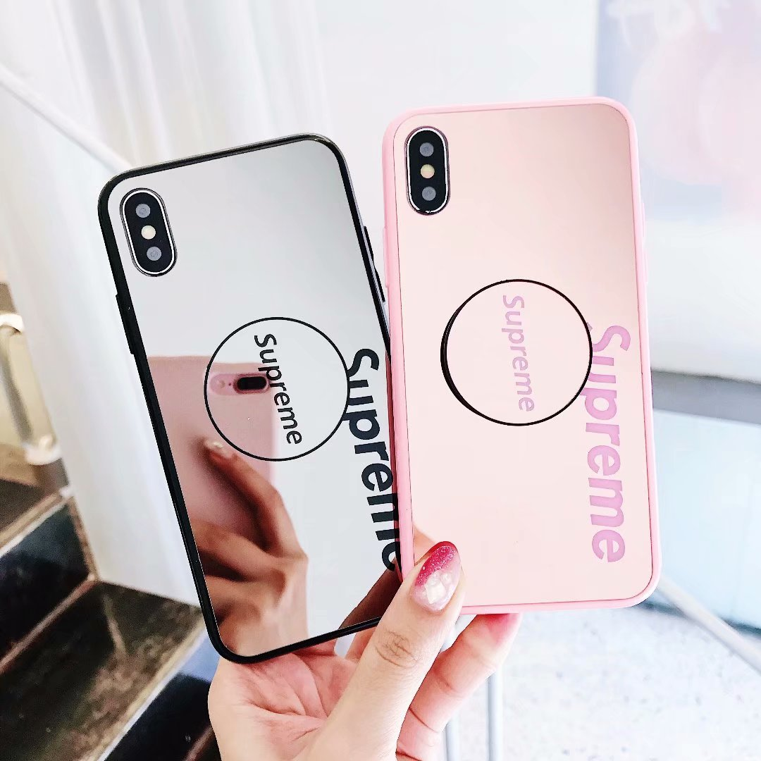 online store 49459 81d6a Popsocket Sup Mirror Back Kickstand Case for iPhone XS max XS XR X 8 8p 7 7p