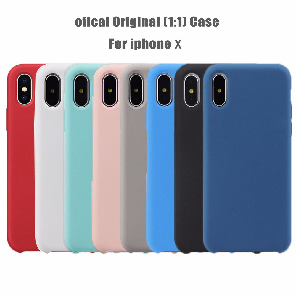 size 40 12873 27932 1:1 original like Silicon Phone Case For iPhone X/7/8/7plus/8plus