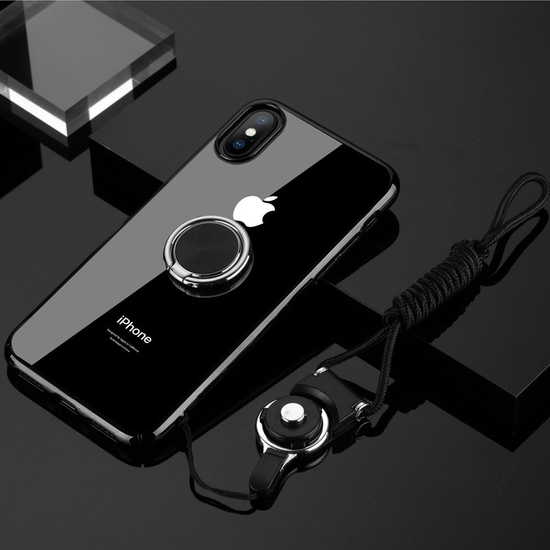 iphone xr clear case with ring