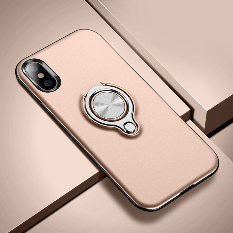 online store 88c5d 9df18 Slim clear 360 degree rotated finger loop grip ring bracket kickstand  iphone XS max case with car magnetic for iPhone XS MAS XR