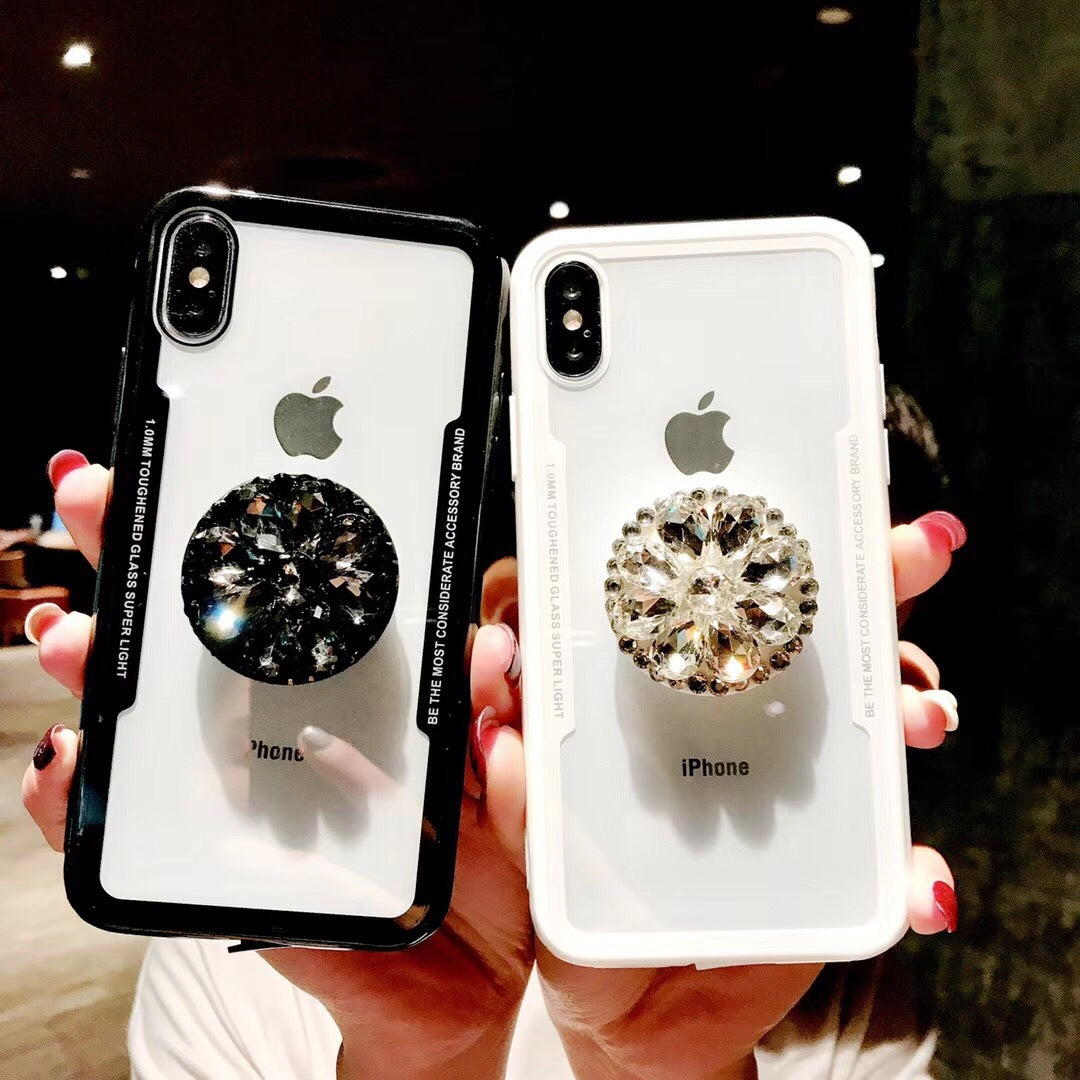 best website 30d0c b1a7a Viral on youtube and instagram hottest iPhoneXS MAX case with popsocket  socket rhinestone case XS XR