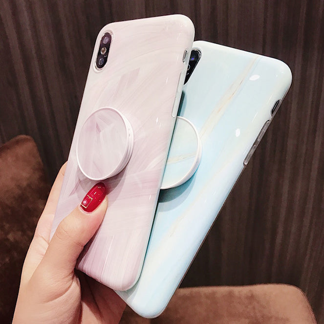 brand new c98f8 de436 VIRAL ON INSTAGRAM YOUTUBE CLASSIC MARBLE PAINTED IPHONE XS MAX CASE WITH  POPSOCKET XS XR X