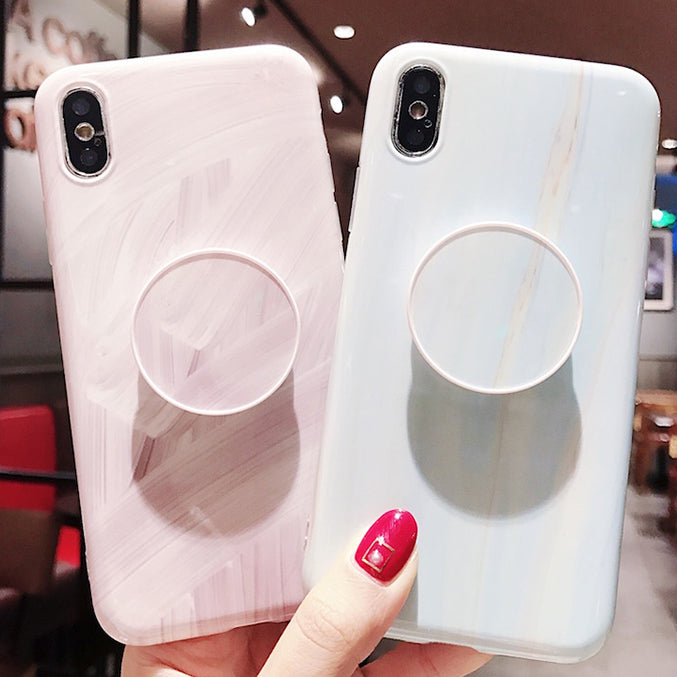 brand new 9b6ce 97819 VIRAL ON INSTAGRAM YOUTUBE CLASSIC MARBLE PAINTED IPHONE XS MAX CASE WITH  POPSOCKET XS XR X