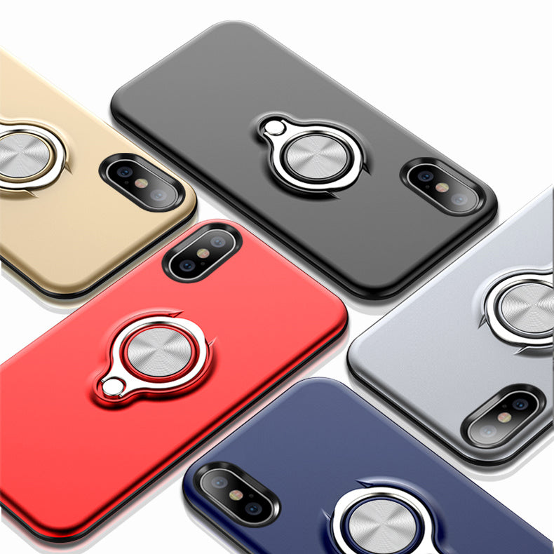 online store 277ae b704c Slim clear 360 degree rotated finger loop grip ring bracket kickstand  iphone XS max case with car magnetic for iPhone XS MAS XR