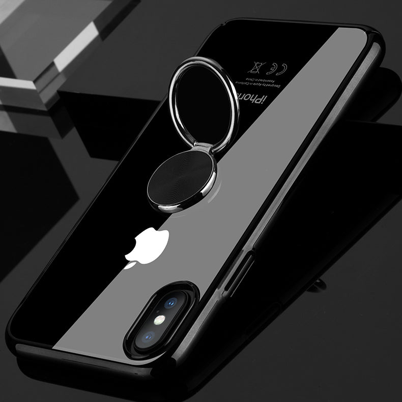 buy popular a3633 195b6 iPhoneXS XS Max XR ultra slim lanyard Case with 360 Degree Ring kickstand  Car Magnetic Holder shockproof transparent Clear Case