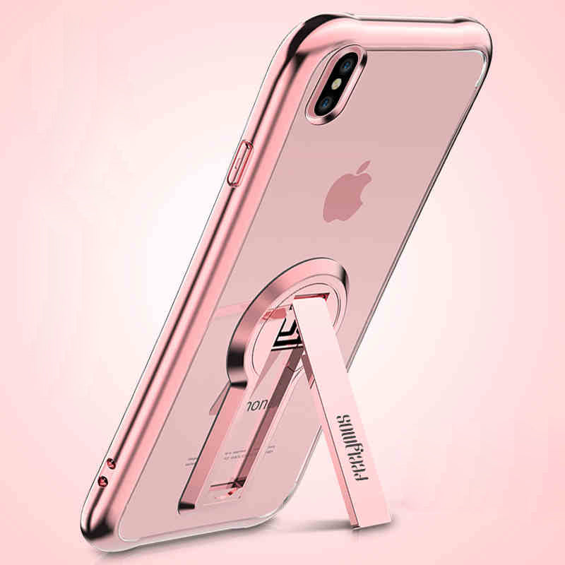 brand new 875ac ea9f9 Transparent back full body protecitive kick-stand bumper case for iPhone XS  XS MAX XR X