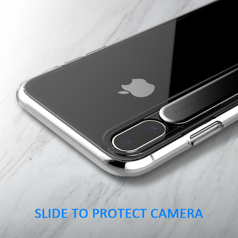 pretty nice d910b 9d025 Incoming call flash reminder transparent camera protective case for iphone X