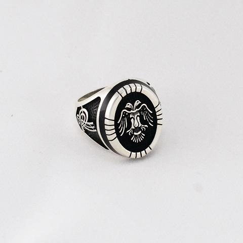 Coat of Arms Silver Ring