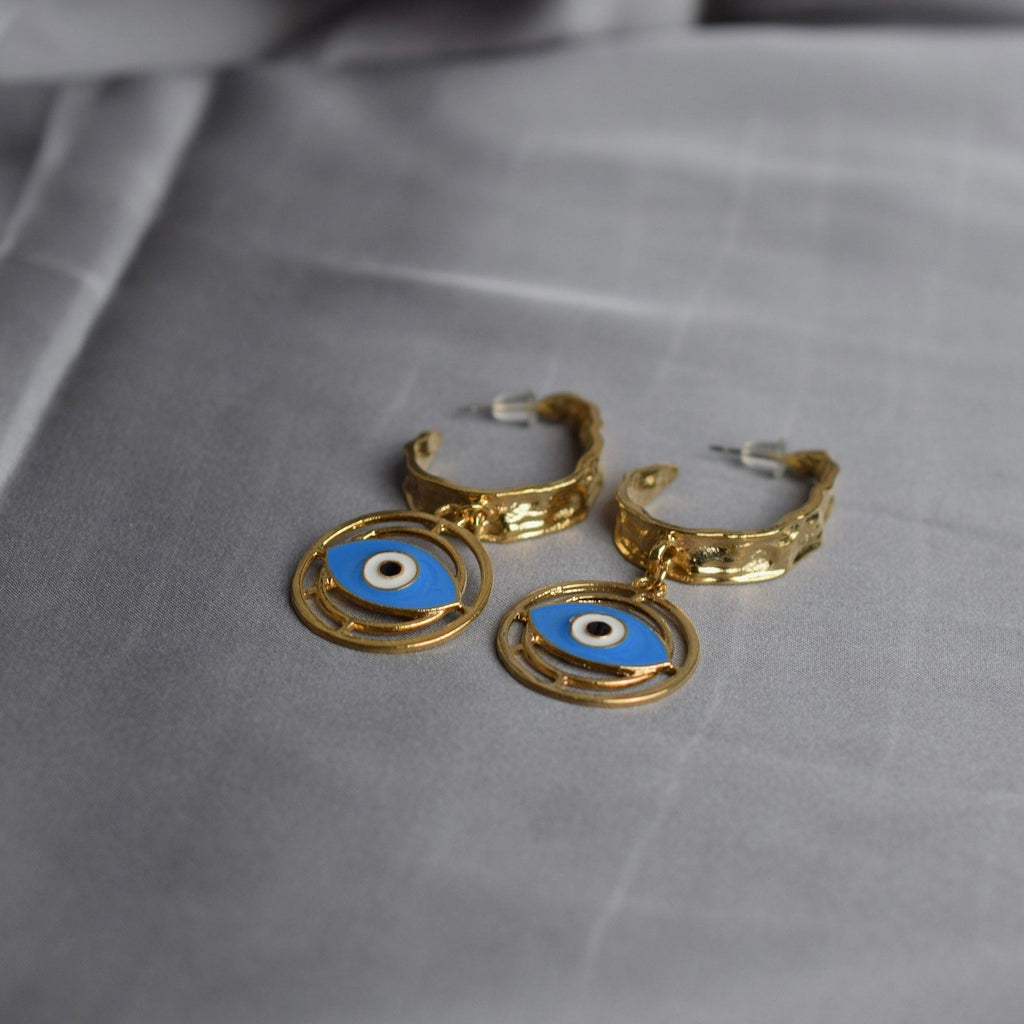 Evil Eye Long Earrings