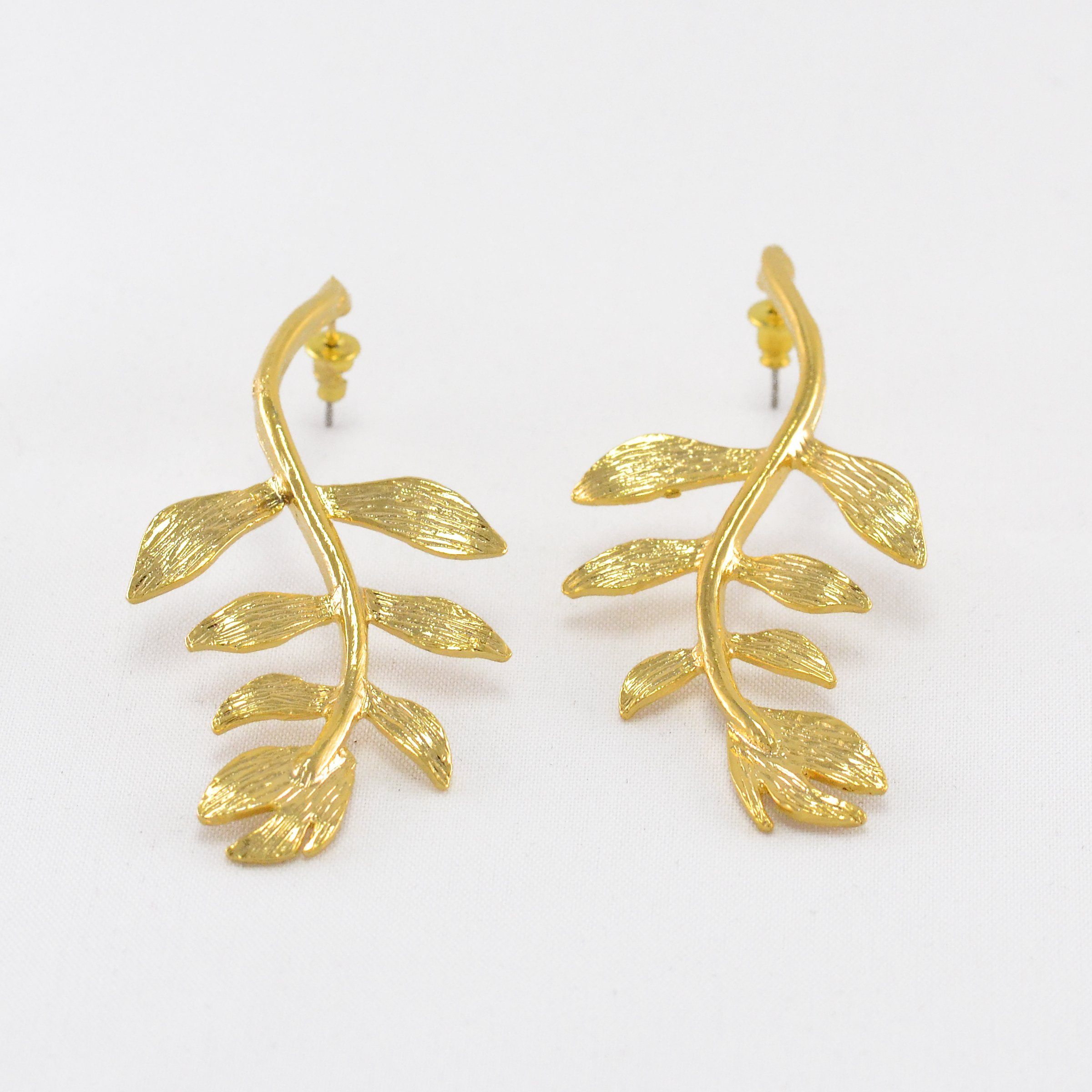Leaf Branch Turkish Earrings