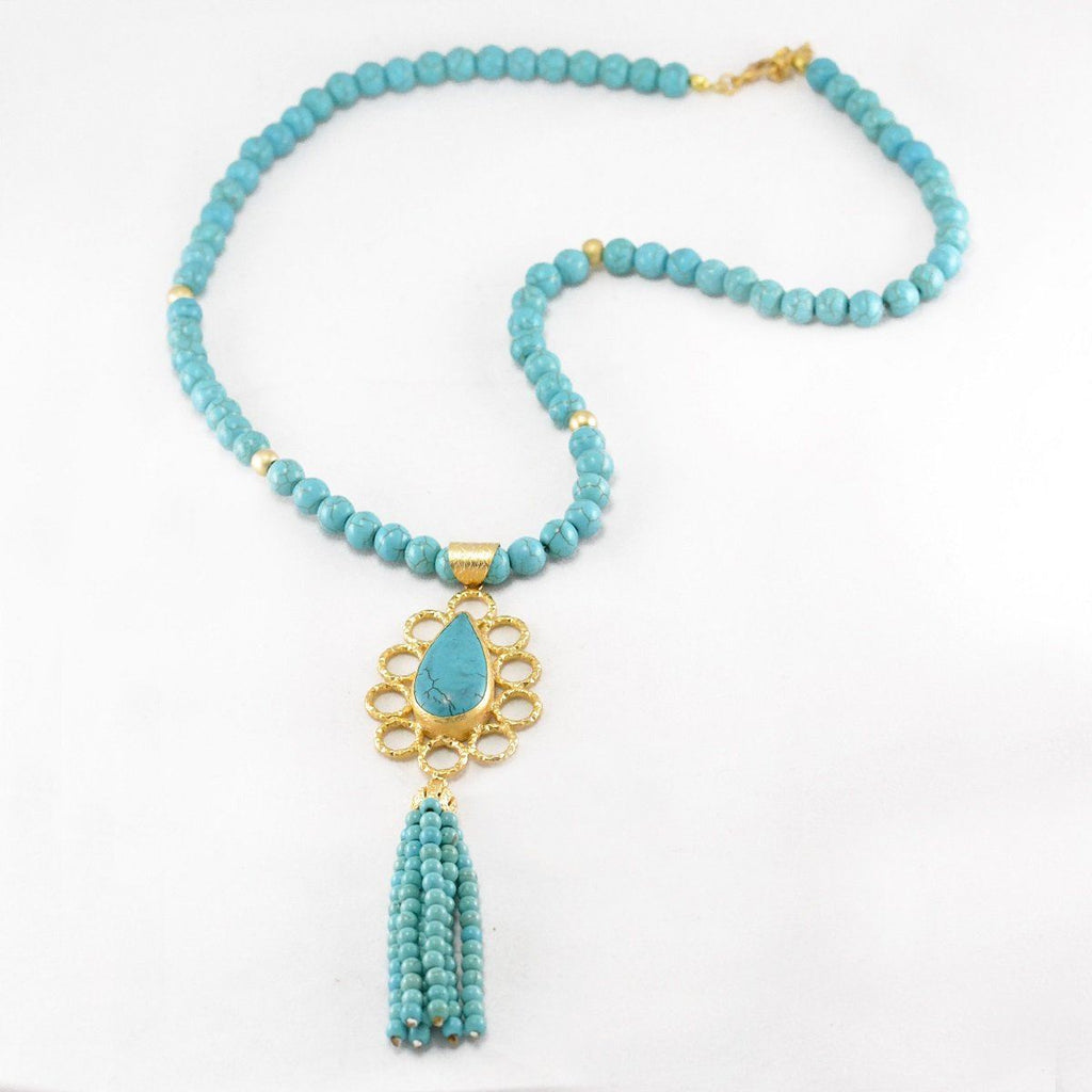 Ethnic Turquoise Necklace
