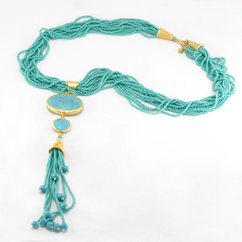 Turquoise Beads Grand Necklace
