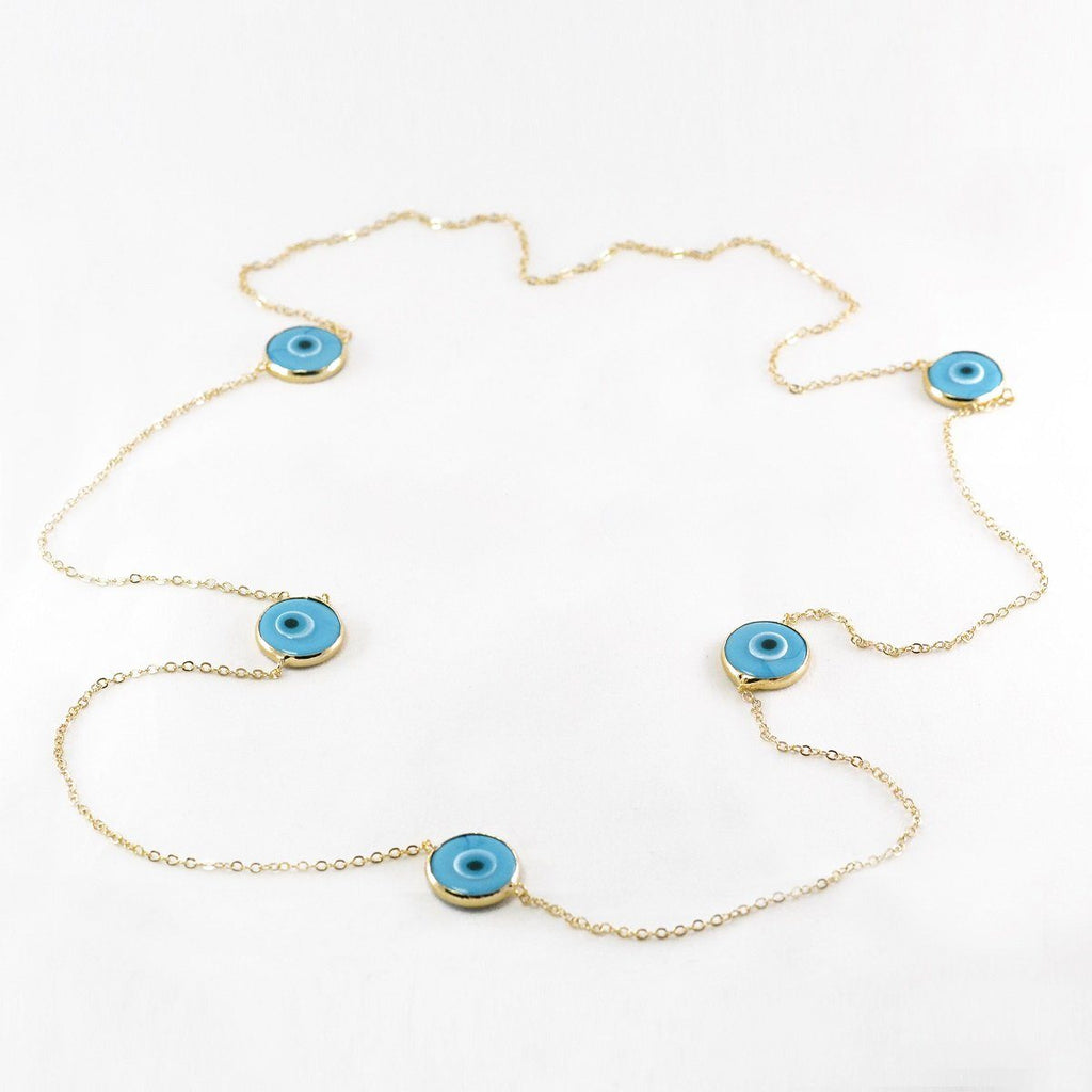 Evil Eye Long Necklace