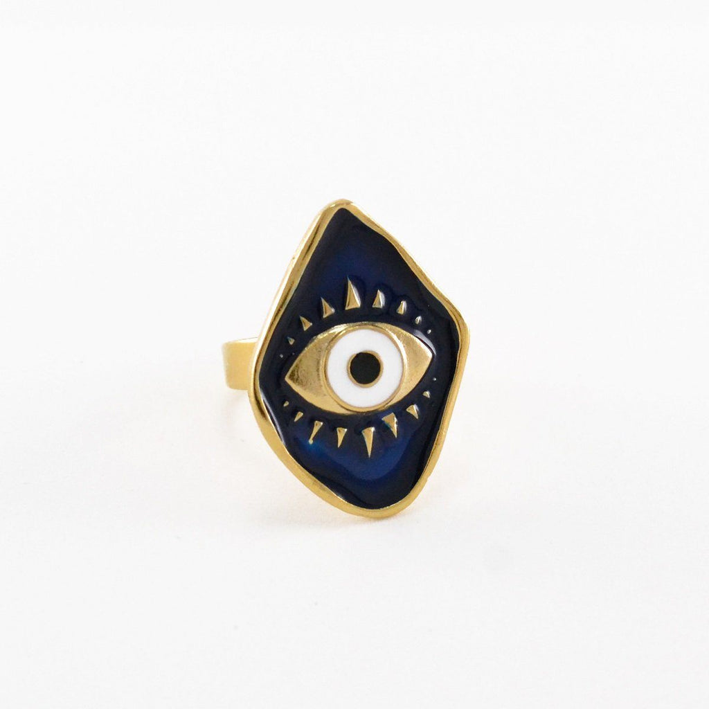 Royal Blue Evil Eye Ring